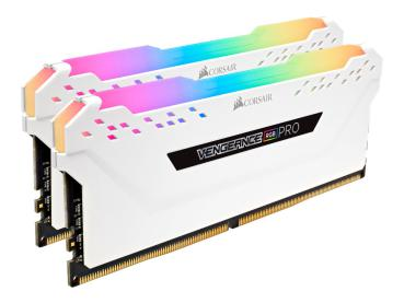 16GB DDR4 3000 MHz Corsair Vengeance RGB Weiß CL15
