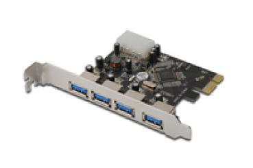 I/O PCI-E -> 4x USB3.0 DIGITUS