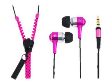 "Headset In-Ear Logilink Zipper"" Stereo HS0022 pink"""