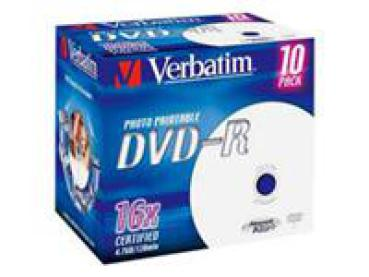 DVD-R Verbatim Printable 10er Pack