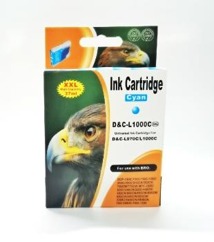 Tinte Brother LC970C & LC1000C kompatible Patrone - 11ml