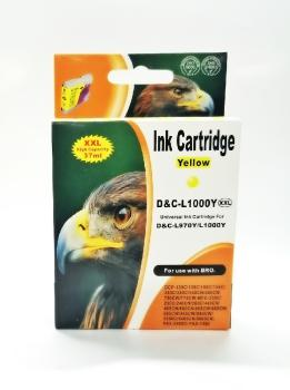 Tinte Brother LC970Y & LC1000Y kompatible Patrone - 11ml