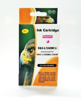 Tinte Brother LC1220/LC1240M magenta XL kompatible Patrone