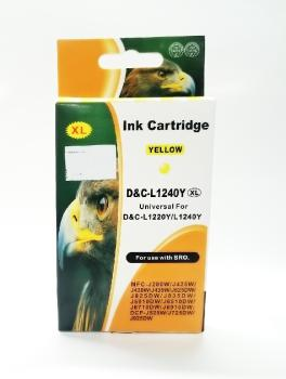 Tinte Brother LC1220/LC1240Y yellow XL kompatible Patrone
